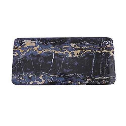 XXLCJ La Placa de Postre Vajilla De Melamina Mármol Textura imitación Plato de Porcelana Cuadrado de bistec Sushi Occidental (Size : 33 * 21cm)