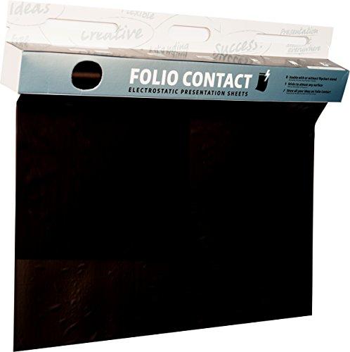 Folio Contact Blackboard: die patentierte elektrostatische Tafelfolie - haftet ohne Hilfsmittel auf nahezu allen Oberflächen