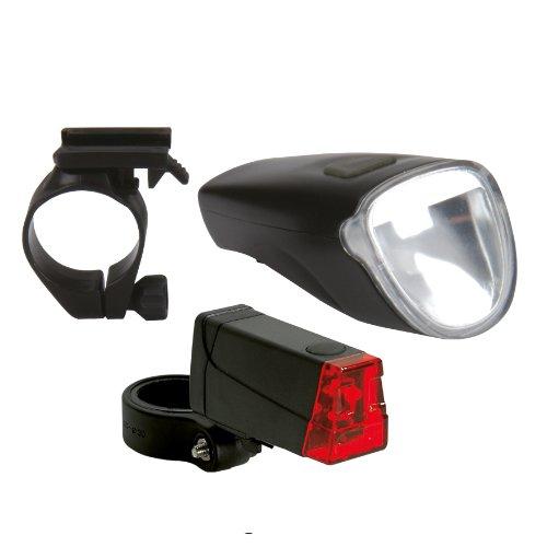 Beleuchtungsset 40/20/10 Lux Mit Rücklicht, schwarz, 62566