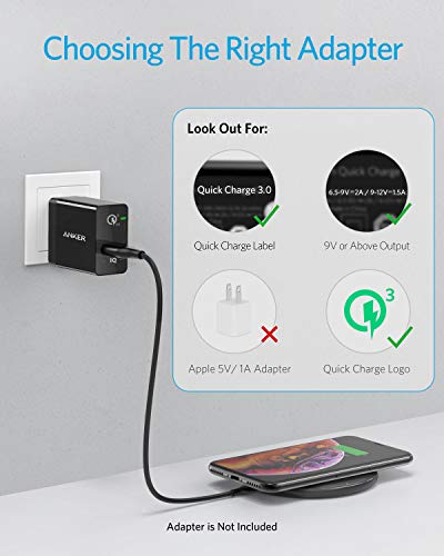 Anker Wireless Charger, 2 Pack PowerWave Pad, Qi-Certified, 7.5W for iPhone SE 2020, 11, 11 Pro, 11 Pro Max, Xs Max, XR, Xs, X, 8, 8 Plus, 10W for Galaxy S20 S10 S9 S8, Note 10 Note 9 (No AC Adapter)