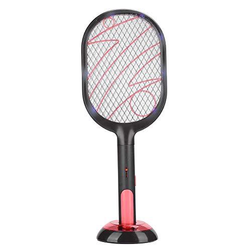 Uxsiya Flyswatter Raqueta de Mosquito portátil Conveniente Resistente para Actividades al Aire Libre para la Salud para Viajes(Lightning Black)