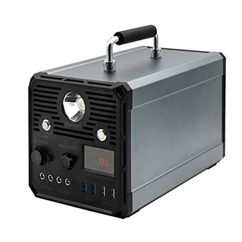 CCFCF Generador Solar portátil de 1000 W, energía de Respaldo de batería de Litio de 120000 mAh con Enchufe, para emergencias de Pesca al Aire Libre