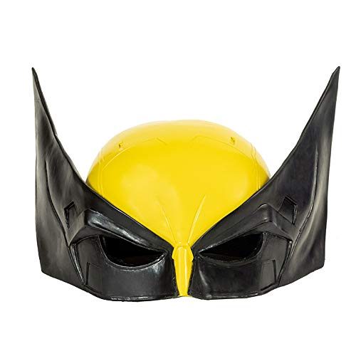 DealTrade Logan Maske Cosplay Kostüm Erwachsene Herren Helm Film Gelb Klassische Schlacht Harz Masken Halloween Karneval Merchandise Zubehör