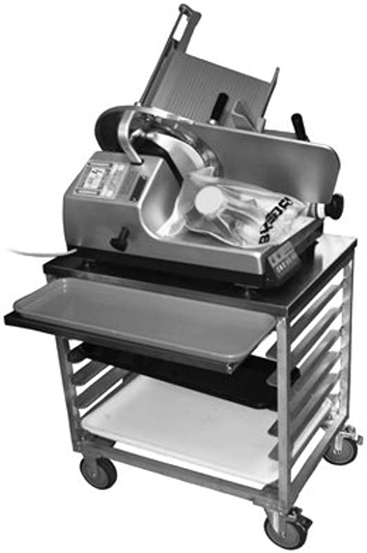 Prairie View Ind Food Service WS3026SC 7ST Slicer Mixer Scale Cart With Pan Storage 28 1 4 Width X 30 Height X 20 1 2