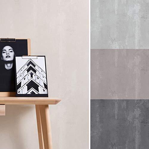 Papel pintado vintage 3D con aspecto de hormigón loft, aspecto de piedra, color gris, cemento y piedra (10,05 m x 0,53 m, hormigón gris)