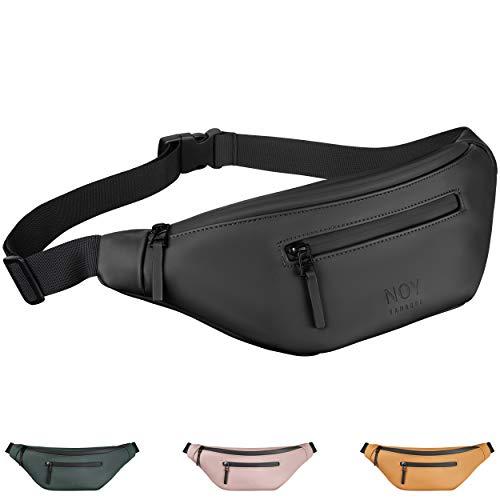 NOY® Bauchtasche Damen & Herren (schwarz) - Gürteltasche nachhaltig & vegan - stylische Hip Bag - Kleine Tasche für den Alltag, Festivals & Reisen