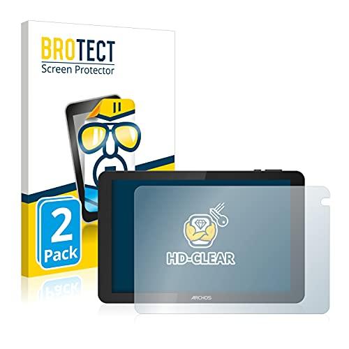 BROTECT Schutzfolie kompatibel mit Archos Oxygen 101S (2 Stück) klare Bildschirmschutz-Folie