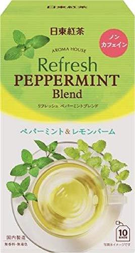 スマートマットライト 日東紅茶 アロマハウス リフレッシュペパーミント 10袋入り ×6個