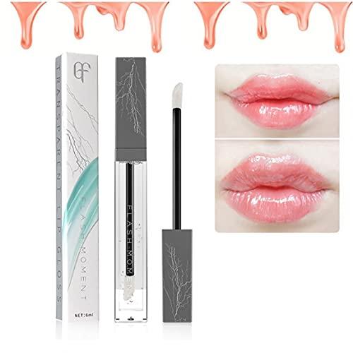 1PC Transparente Lip Bloss Alto Shine No Sticky Lip Gloss Natural Lip Primer LIPS Hidratante Aceite Tratamiento Bálsamo para labios secos (6ml)