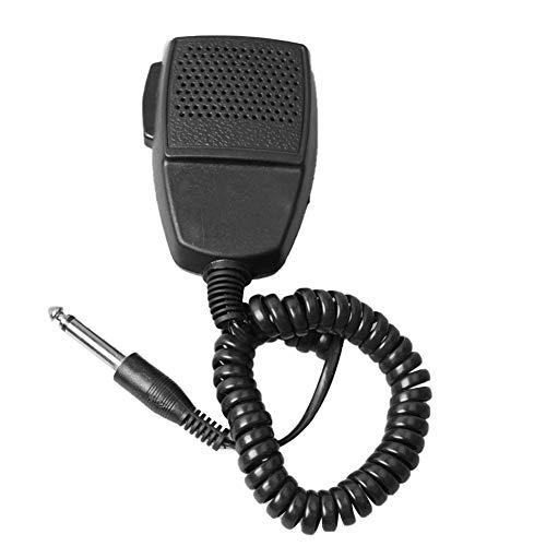 BRANDNEWS Taxi-Fernlautsprecher-Mikrofon mit 6,5-mm-Audiobuchse, Spiralkabel und Drehclip, eigensicher, 2-Wege-Lautsprecherzubehör für Autos Physical