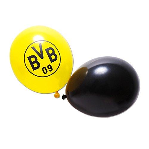 Borussia Dortmund Luftballon 10er Set BVB 09 + gratis Sticker