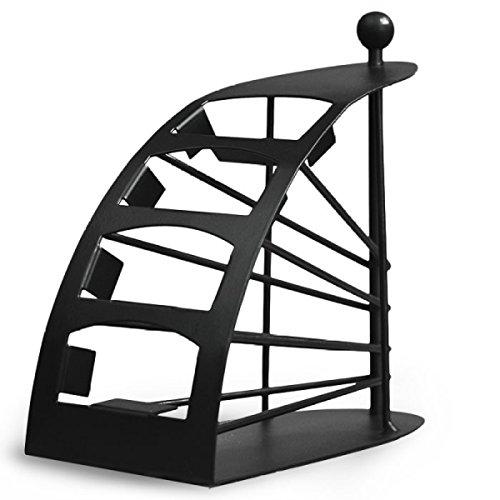 BR Desktop Organizer Creative Home Iron Art Storage Box Desktop Condizionatore Telecomando Rack di stoccaggio (11 * 20 * 20 cm) Nero