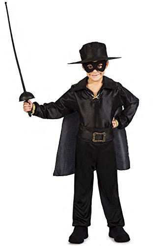 Kimokawaii Disfraz Zorro NIÑO Talla 7-9 AÑOS TAMAÑO Infantil