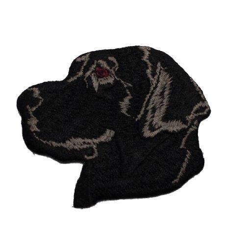 【犬種別】ブリード刺繍ワッペン ラブラドール(ブラック)