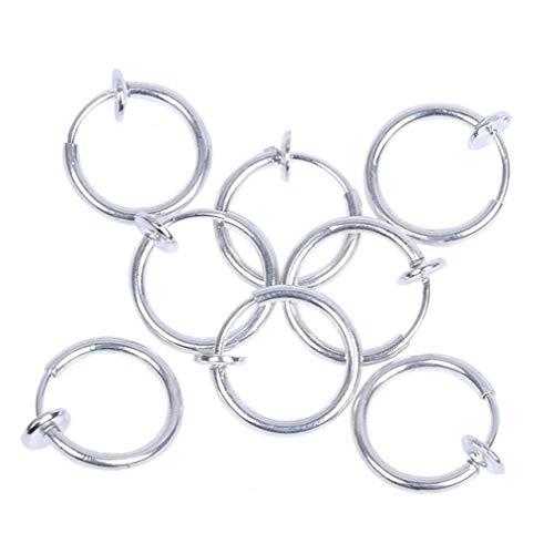 Clip auricolari 8 pezzi di rame Ear Clip non Piercing orecchini del cerchio dell'orecchio polsini cartilagine Set per Uomo Donna