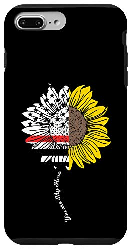 iPhone 7 Plus/8 Plus My Hero Sunflower Firefighter Thin Red Line Fireman Gift Case