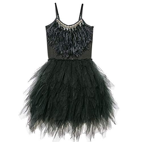 YONGMEI Vestito da Balletto di Swan della Bambina, 4 Colori (Colore : Nero, Dimensioni : 110cm)