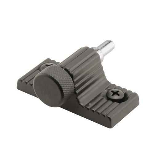 Defender Security S 4003 Sliding Door Lock, 1-9/16 in. Hole Spacing, Twist-in, Black Painted Finish, Pack of 1