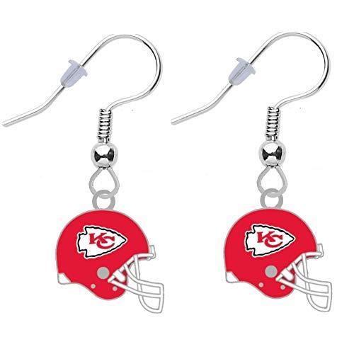 Kansas City Chiefs Helmet Earrings Pierced