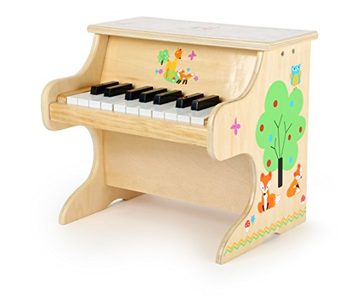small foot 10724 Klavier Kleiner Fuchs, aus Holz, Kinderinstrument mit einer Tonleiter für erste Musikerfahrungen