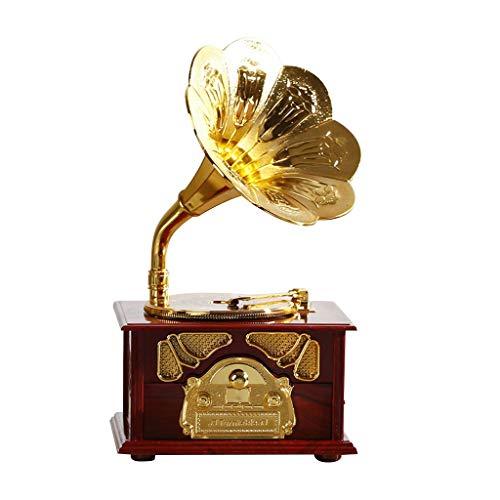 Serria® Mini Retro Horn Grammophon Spieluhr Antike Klassische Spieluhr Vintage Spieluhr Wohnkultur