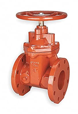Gate Valve, Flanged, 4 In, Ductile Iron from Nibco
