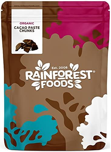 Pioggia alimenti biologici di pasta di cacao cruda 400g