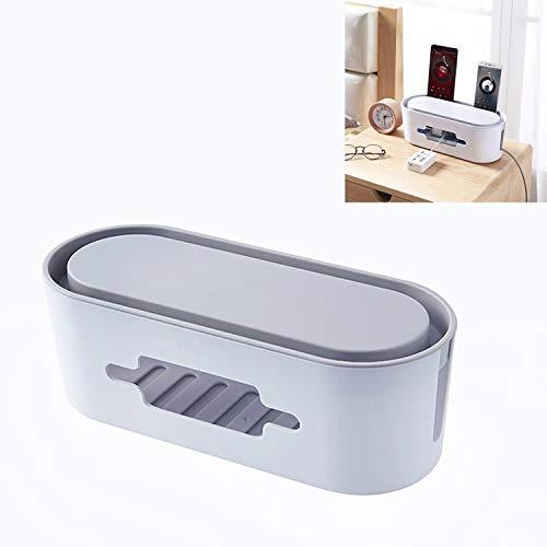 Hmg LINE Haushalt Tägliche Plug-In-Board-Aufbewahrungsbox-Ladegerät Datenkabel-Steckdose Finishing Box (Color : White)
