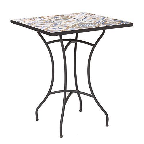 Mesa de jardín Cuadrada de Hierro Azul clásica - LOLAhome