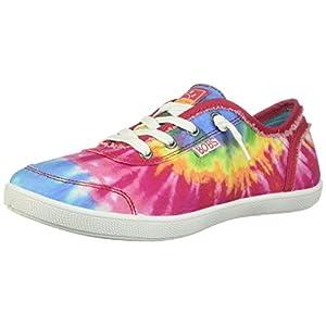 Skechers Women's Bobs B Cute-Tie Dye Frayed Canvas Sneaker