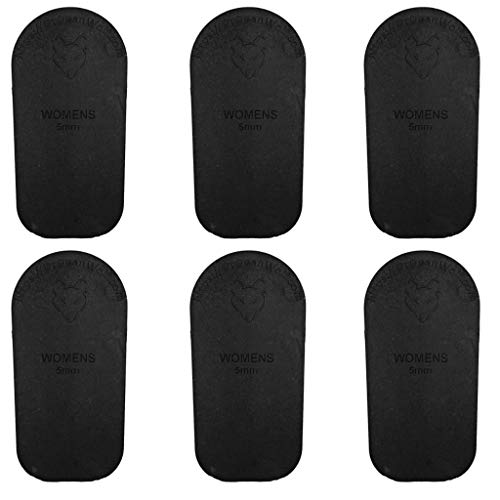 Heel Lift Inserts for Shoes  Women#039s 5mm  Rubber Orthopedic Correction Wedge  for Leg Length Discrepancy or Height Increase  Helps Relieve Hip Knee Back Pain from Uneven Legs  6 Pack