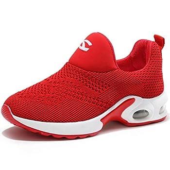 BODATU Kids Boys Girls Running Shoes Comfortable Fashion Light Weight Slip on Cushion Red 2 9 Toddler