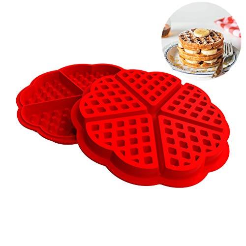 SmartRing ?Heart Shaped Waffle Mold ? Kitchen Waffle Mold Non-Stick Cake Mold Maker Kitchen Silicone Waffle Baker
