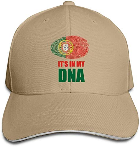 ZYZYY Berretto da baseball unisex Portogallo It S nel mio DNA Snapback Cappello regolabile con visiera Sandwich Cap