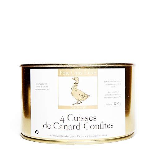 Confit de Canard du Sud-Ouest - 4 cuisses - 100% Landes FRANCE - SANS Conservateurs, SANS additifs, SANS OGM - 2/4 personnes (1.25)