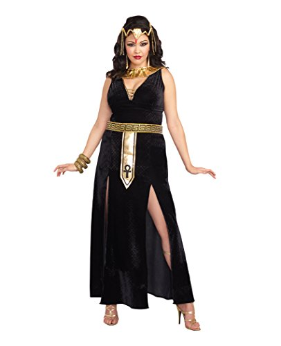 DreamGirl–10290X bolsita Cleopatra disfraz, 3x -Large/4x -grande, color negro