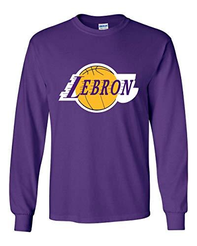 Long Sleeve Purple Los Angeles Lebron Logo T-Shirt Adult