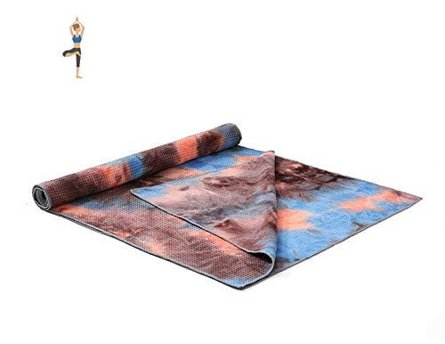 Estera de Yoga 183 * 63 Cm Nuevo Patrón Impreso Yoga Mat Toalla Sport Fitness Gym Ejercicio Pilates Workout Cubierta De Entrenamiento Portátil Manta Suave Gris