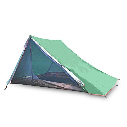 Hidewalker 1-2 Man Lightweight Trekking Backpacking Tent,Waterproof Breathable Quick Easy Setupp Camping Tent for Outdoor, Hiking Mountaineering Travel (Green)