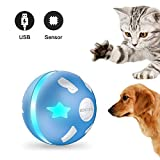PetDroid Interactive Dog/Cats Ball Toys,Durable Motion Activated Automatic Rolling Ball Toys for Puppy/Small/Medium Dogs,USB Rechargeable (Blue)(Deep Blue) (Multi-Colored)