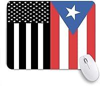 ECOMAOMI 可愛いマウスパッド アメリカプエルトリコの旗 滑り止めゴムバッキングマウスパッドノートブックコンピュータマウスマット