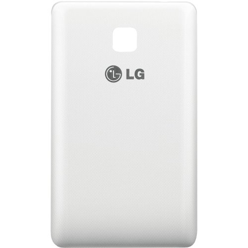 Original LG Akkudeckel für LG E430 Optimus L3 2nd - white / weiß (Batteriefachabdeckung, Akkufachdeckel, Rückseite, Back-Cover) - ACQ86559603