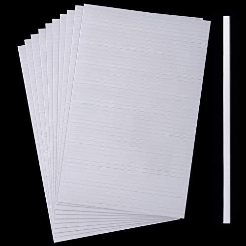 500 Stücke Doppelseitige Schaumstoff Klebestreifen Doppelt Klebende 3D Schaum Klebebänder Schaumstoff Popstreifen Klebebefestigung für Shaker Karte Scrapbooking oder Büro Zubehör (3,9 Zoll)