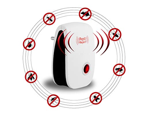 WRIGHTRACK Latest Ultrasonic Pest Repeller to Repel Rats, Cockroach, Home Pest & Rodent Repelling Aid for Mosquito, Cockroaches, Ants Spider Insect Pest Control Electric Pest Solution (Pack of 1)