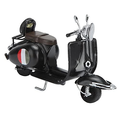 Evonecy Artesanía de Motocicleta de Estilo Retro Innovador, Adorno para el hogar, Ventana para Escritorio de Accesorios de fotografía en el hogar(Black)