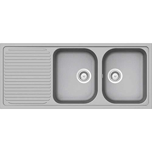 Schock Lithos D200 2.0 Bowl Granite Croma Grey Kitchen Sink & Waste LITD200CR