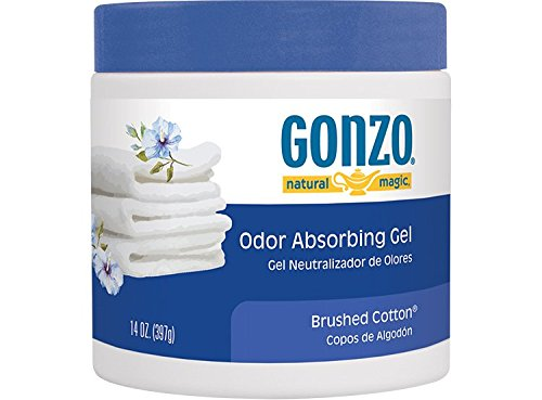 Gonzo Natural Magic Natural Magic Air Purifying Gel, Odor Eliminator for Cars, Closets, Bathrooms and Pet Areas, Captures and Absorbs Odors - 14 Ounce - Brushed Cotton