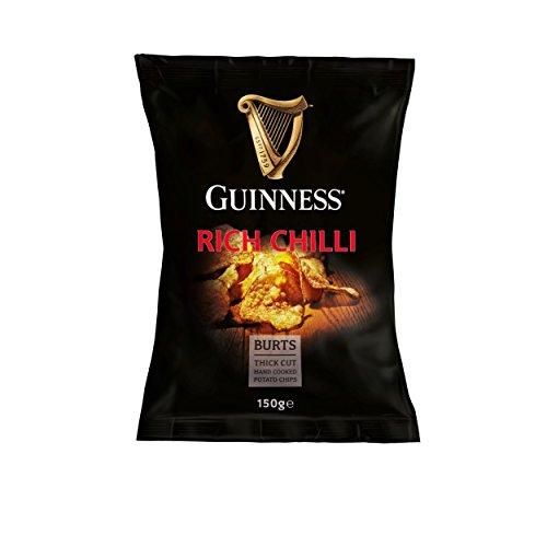 10 x Guinness Chips, Rich Chilli, Kartoffelchips, Knabberei, Partysnacks 150 g