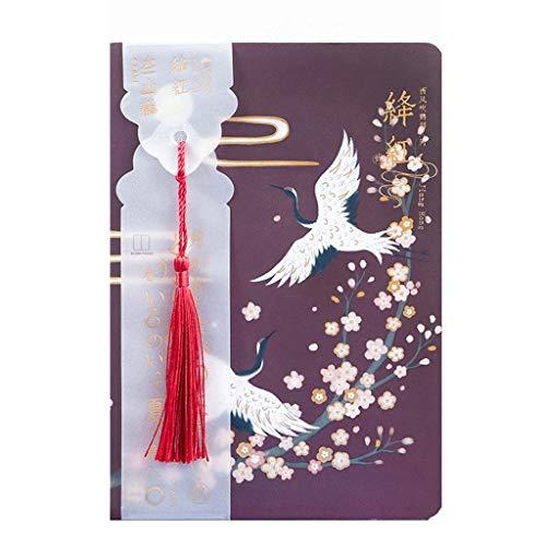 Cuadernos de diario en blanco de papel rayado plan Cuaderno chino Vintage Planificador de cuaderno chino Agenda Cuaderno de bocetos Diario Útiles escolares Papelería Cuadernos Paquete de trabajo escol