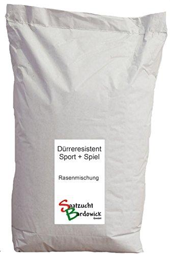 Rasen Dürreresistente Rasenmischung Sport + Spielrasen – strapazierfähig - Gebrauchsrasen - 5kg für ca. 150 m²
